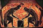 Akhilleusz és Aiasz kockázik
